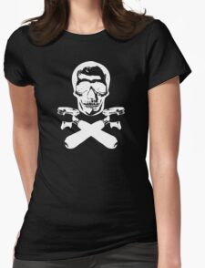 Skull & Portafilters Womens Fitted T-Shirt