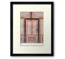 A Pink Door Framed Print
