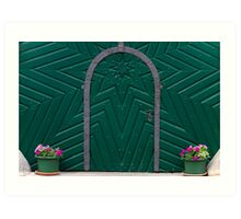 A Green Door Art Print