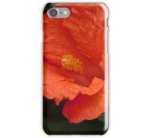 Vibrant Orange Hibiscus Flower iPhone Case/Skin