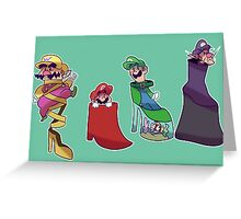 Mario Bros. Fancy Shoes Greeting Card