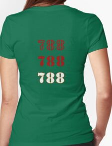 H.I.S.S. Numbers Womens Fitted T-Shirt