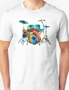 The Drums - Music Art By Sharon Cummings Unisex T-Shirt