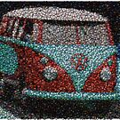 VW Bus made of Bottle Caps by finalscore