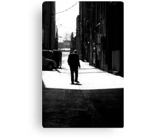 Smoking Sihouette Canvas Print