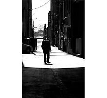 Smoking Sihouette Photographic Print