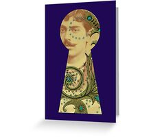 Out of the Past Keyhole View Greeting Card