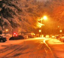"""A Snowy Evening in Knoxville (no.1, from this series)""... prints and products Sticker"