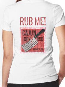 Mangia 'Rub Me' Women's Fitted V-Neck T-Shirt