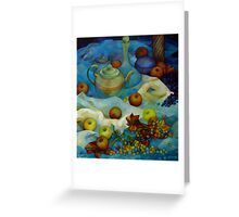 blu still life Greeting Card