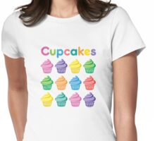 Cupcakes Pretty Womens Fitted T-Shirt
