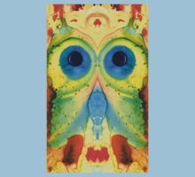 The Owl - Abstract Bird Art by Sharon Cummings Kids Clothes