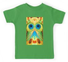The Owl - Abstract Bird Art by Sharon Cummings Kids Tee