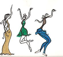 3 dancin ladies by amiradance