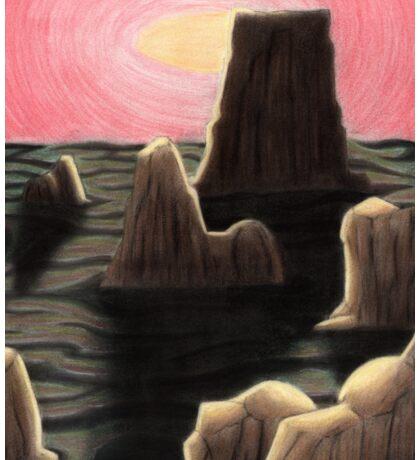 Alien Landscape Sticker