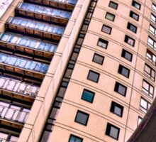 High rise living in Clarence Dock, Leeds. Sticker