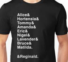 Matilda the Musical - Names & Reginald Unisex T-Shirt