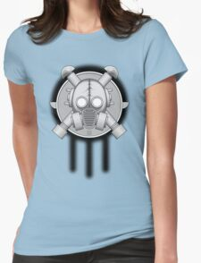 Art Deco Gasmask Trinity Womens Fitted T-Shirt