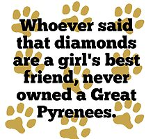 Great Pyrenees Are A Girl's Best Friend by GiftIdea