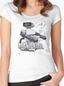I Main R.O.B. - Super Smash Bros. Women's Fitted Scoop T-Shirt