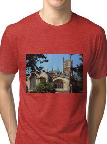 Cirencester Parish Church. Tri-blend T-Shirt
