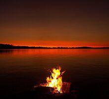 smoke on the water, bala bay by Brock Hunter