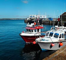 Penzance Fishing Harbour, Cornwall. by rodsfotos