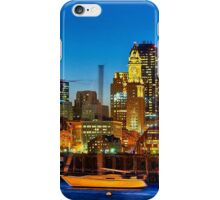 Boston skyline- Piers Park View  iPhone Case/Skin