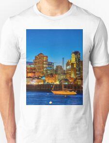 Boston skyline- Piers Park View  Unisex T-Shirt