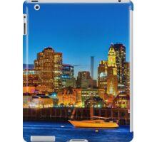 Boston skyline- Piers Park View  iPad Case/Skin