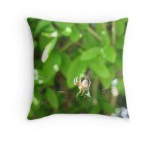 Humpty Dumpty Spider Throw Pillow
