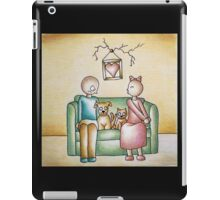 Funny Cartoon Couple Girl Kissing and Boy Mad iPad Case/Skin