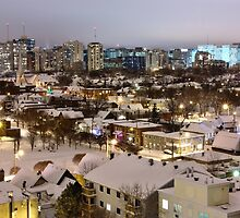 town after snow storm by fotosky