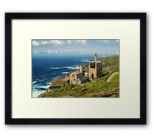Cornish Coast from Trewellard towards Pendeen Framed Print