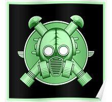 Art Deco Gasmask Green II Poster