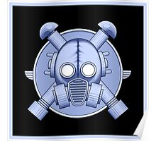 Art Deco Gasmask Blue II Poster