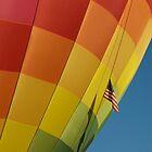 American Flag at Take Off by Luann wilslef