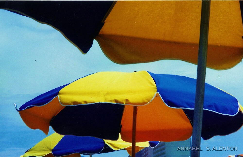 beach umbrellas by ANNABEL   S. ALENTON