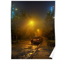 Misty - night HDR photo Poster