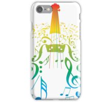 Violin with Notes2 iPhone Case/Skin