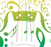 Violin with Notes2 Sticker
