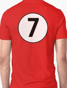 7, Seven, Seventh, Number, Number 7, Racing, Seven, Competition, on Navy Blue T-Shirt
