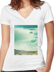 Ride - Monologue Women's Fitted V-Neck T-Shirt