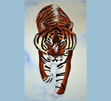 Tiger in the snow painting Unisex T-Shirt