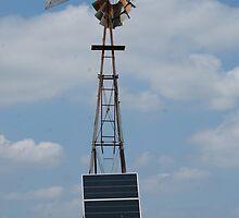 Solar Powered Windmill by TxGimGim