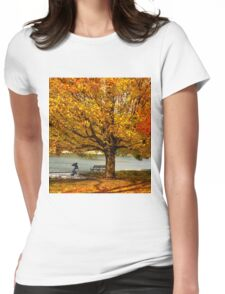 Golden maple warm me up  Womens Fitted T-Shirt