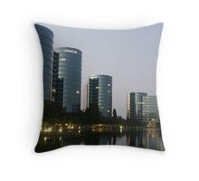 Oracle Headquarters in Redwood City Throw Pillow