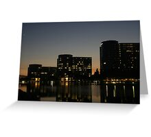 Oracle Headquarters at night Greeting Card