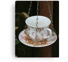 Birds Cup of Tea Canvas Print