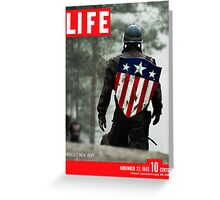 Captain America Life Magazine 1 Greeting Card